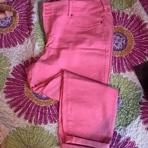 Coral cropped jeggings hold for sherry098765432